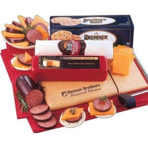 Custom Decorated Tailgator Party Perishable Cheese and Sausage Food Gifts!