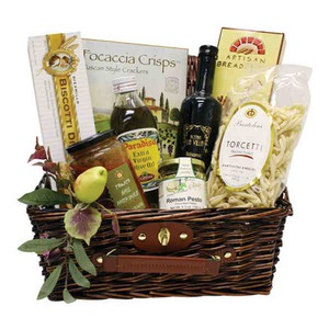 Personalized Taste of Italy Gift Baskets