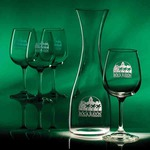 Custom Imprinted Wine Set Crystal Gifts