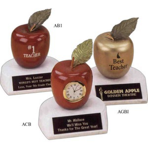 Custom Imprinted Teacher Apple Trophy Gifts!