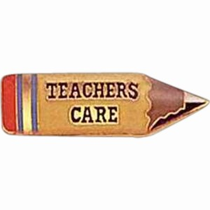 Custom Imprinted Teacher Pencil Shaped Pin Gifts