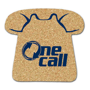 Cork Coasters - Telephone Shaped Cork Coasters
