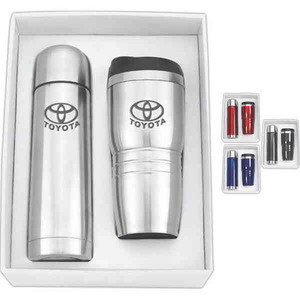 Custom Made Thermos and Travel Mug Tumbler Combination Sets