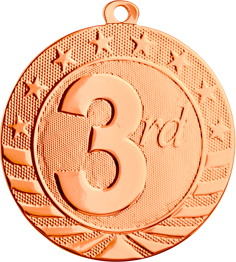 1st, 2nd and 3rd Place Medals -