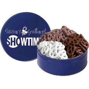 Personalized Three Flavor Pretzel Tins