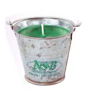 Custom Imprinted Tin Pail Candles!