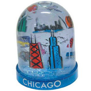 Custom Imprinted Tower Shaped Snowglobes