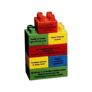 Custom Imprinted Tower Shaped Stock Promo Block Sets