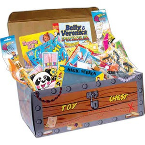 Custom Printed Toy Filled Treasure Chests!