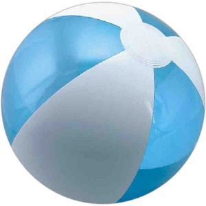 Alternating Color Beach Balls - Translucent Blue and White Alternating Color Beach Balls