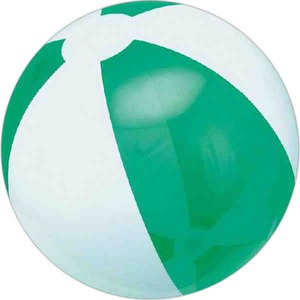 Custom Made Translucent Green and White Alternating Color Beach Balls
