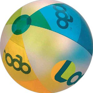 Alternating Color Beach Balls - Translucent Many Colors Alternating Colors Beach Balls