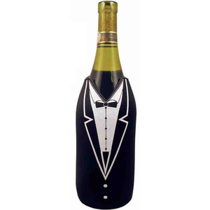 Custom Imprinted Tuxedo Bottle Coolers