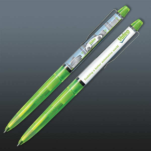 Custom Imprinted Floating Action Moving Logo Striptease Motion Pens