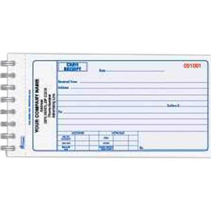 two part cash receipt books custom made promotional items