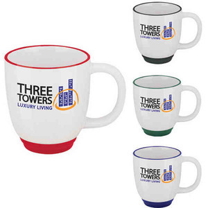 Custom Imprinted Two Tone Bistro Mugs