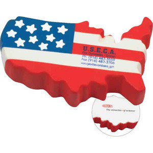 Stress Balls - United States Shaped Stress Relievers
