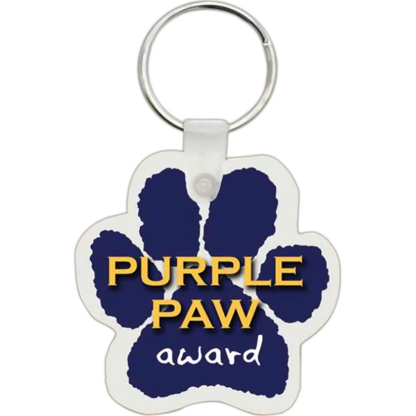 Custom Imprinted Paw Shaped Key Tags