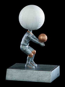 Custom Imprinted Volley Ball Head Bobble Heads