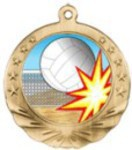 Volleyball Medals - Volleyball Motion Medals