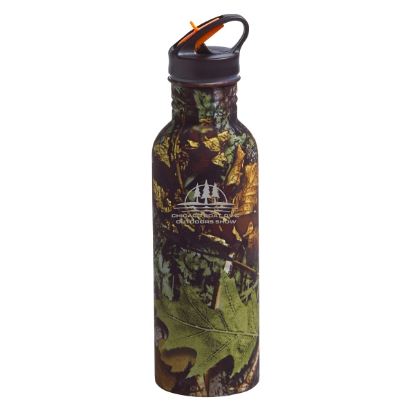 Custom Imprinted 22oz Aluminum Camouflage Water Bottles!