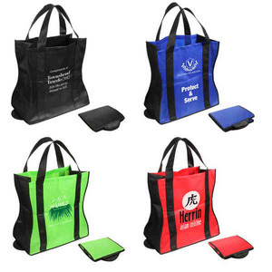 Custom Imprinted Wave Design Tote Bags!