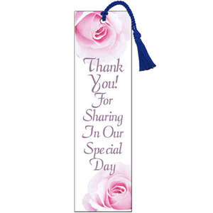 WaDaYaNeed? Wedding Bookmarks, Custom Imprinted With Your Logo!