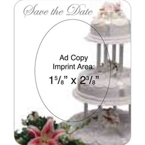 Wedding Cake Theme Promotional Items - Wedding Cake Picture Frame Magnets