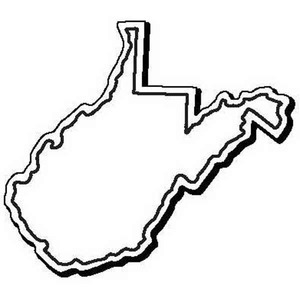 Custom Imprinted West Virginia Shaped Magnets