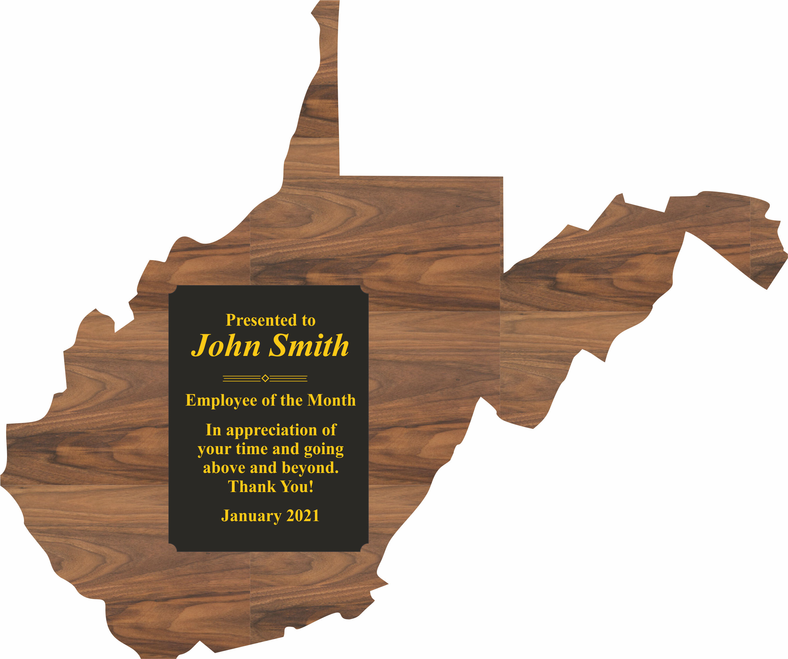 West Virginia State Shaped Promotional Items -
