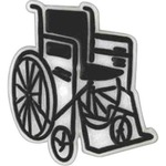 Custom Imprinted Wheelchair Lapel Pins