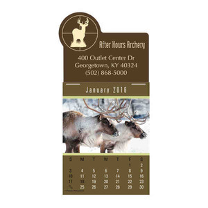 Personalized Wildlife Press And Stick Calendars