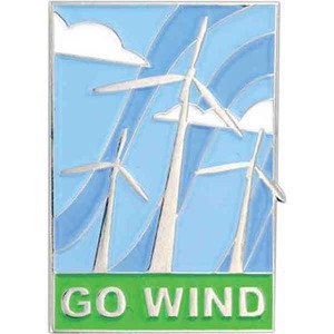 Custom Decorated Wind Power Lapel Pins!