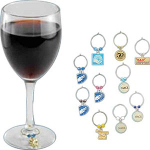 Custom Imprinted Wine Glass Charms!