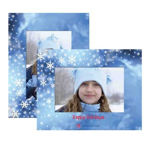 Custom Imprinted Winter Paper Picture Frames