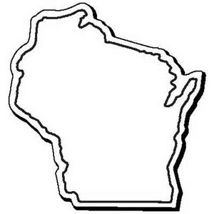 Custom Imprinted Wisconsin Shaped Magnets