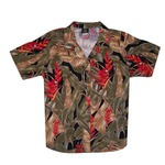 Custom Printed Womens Hawaiian Camp Shirts