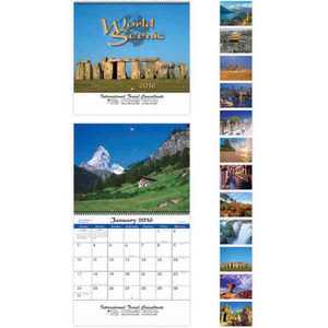 Appointment Calendars - World Scenes with Recipes Appointment Calendars