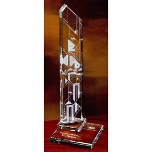 Frank Lloyd Wright Inspired Tall Crystal Gifts - Wright Inspired Harmonics Tall Crystal Gifts