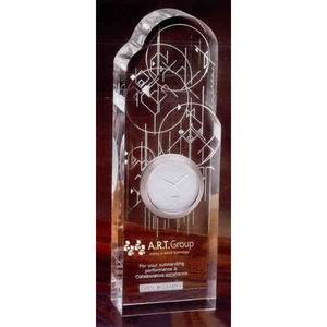 Wright Inspired Clock Crystal Gifts -