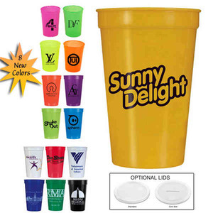 Yellow Color Promotional Items - Yellow Color Stadium Cups