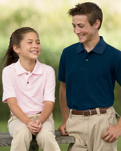 Youth Golf Polo Shirts - Youth Harriton Golf Polo Shirts